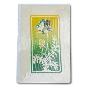 Original Abstract Poppyseed Flower Lithograph Art